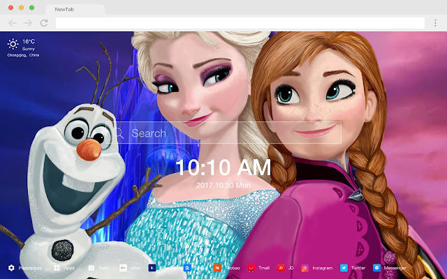 Frozen New Tabs HD Wallpapers Themes