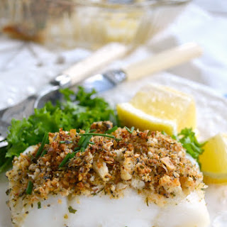 Quick & Easy Baked Fish with Parmesan-Herb Crust.