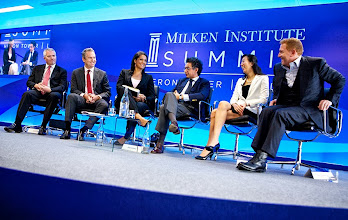 Photo: Addingvalue, Milken Institute London Summit at Heron Tower, London.