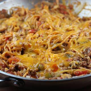 One Pan Skillet Spaghetti.