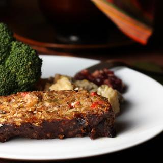 Roasted Vegetable Loaf With a Balsamic Glaze [Vegan].