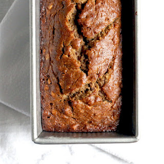 Crunchy Cream Cheese Banana Bread.
