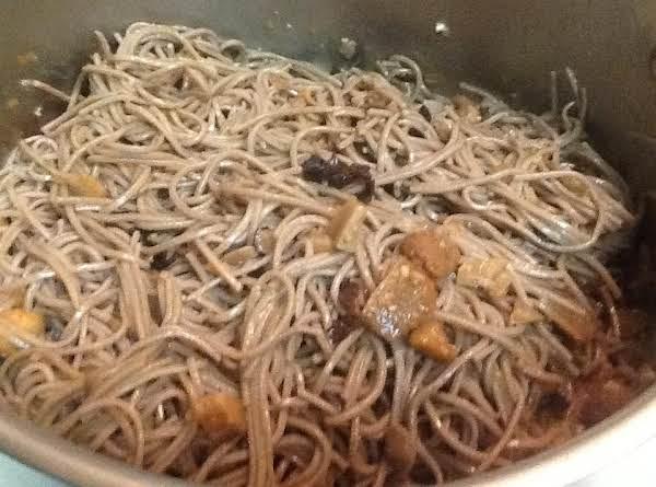 Mushroom Sesame Noodles Recipe
