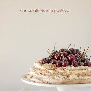 Chocolate Cherry Pavlova with Mascarpone.