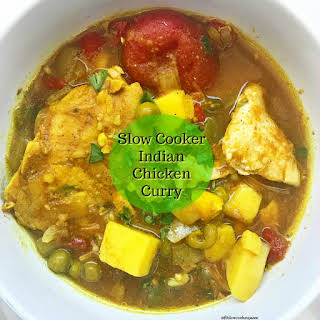 Slow Cooker Indian Chicken Curry.