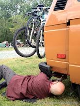 Photo: Fixing the muffer @ EveryBus, Greensboro