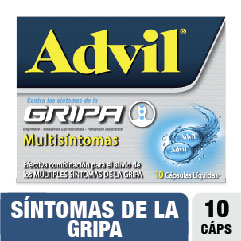 ADVIL GRIPA TABLETAS   CAJA X10TAB. PFIZER IBUPROFENO CLORFENIRAMINA