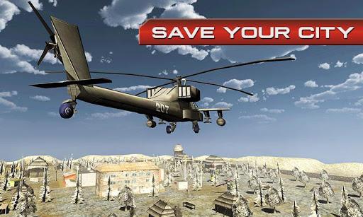 现代直升机机器人战争