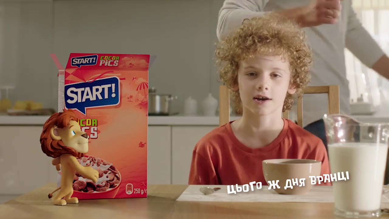 Сухие детские завтраки Старт в Украине