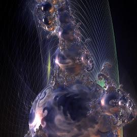 Guarding The Ghosts by Rick Eskridge - Illustration Sci Fi & Fantasy ( fantasy, jwildfire, mb3d, fractal, twisted brush )