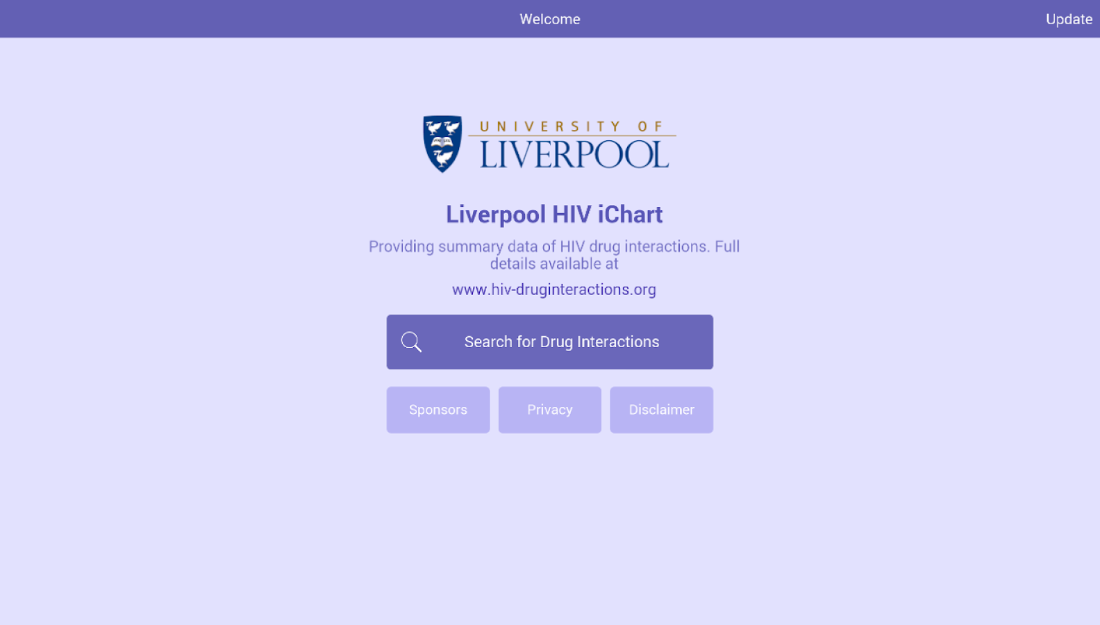 Liverpool HIV iChart- screenshot