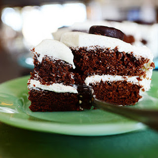 Peppermint Patty Cake with Vanilla Mint Frosting
