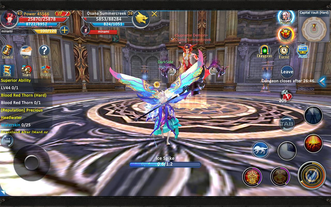 Forsaken World Mobile MMORPG- tangkapan layar