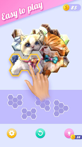 Block Jigsaw - Free Hexa Puzzle Game apkpoly screenshots 1
