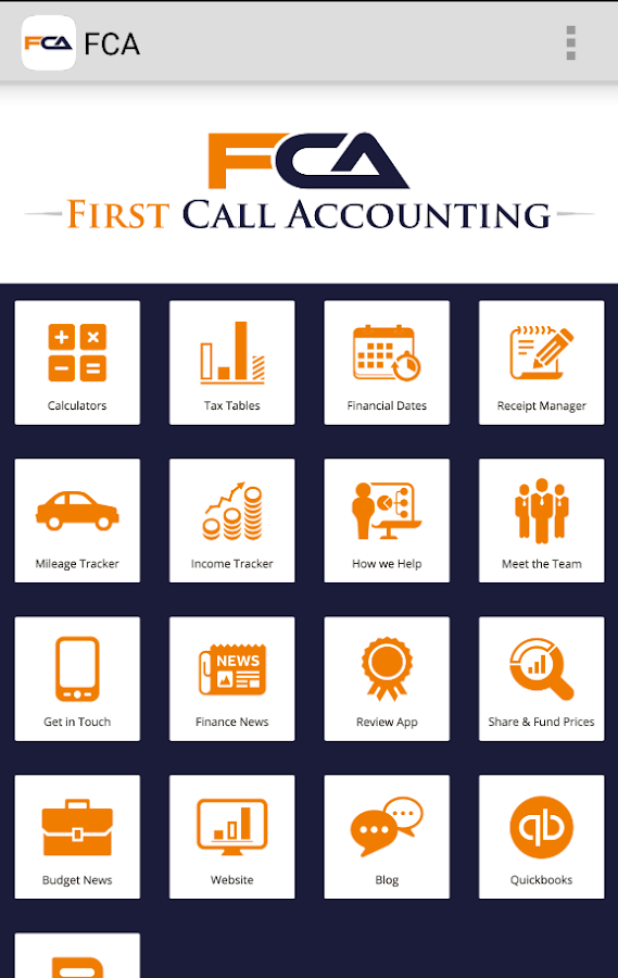 First Call Accounting- screenshot