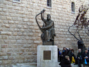 Photo: There is controversy about whether King David is actually buried here but this site has acquired special reverence notably during 1948-1967 when Jordanians controlled access to the Western Wall and Jewish pilgrims came here instead.