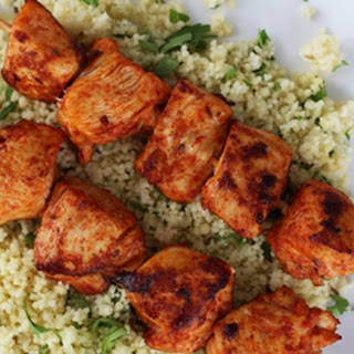 Harissa-Marinated Chicken Skewers with Couscous Recipe