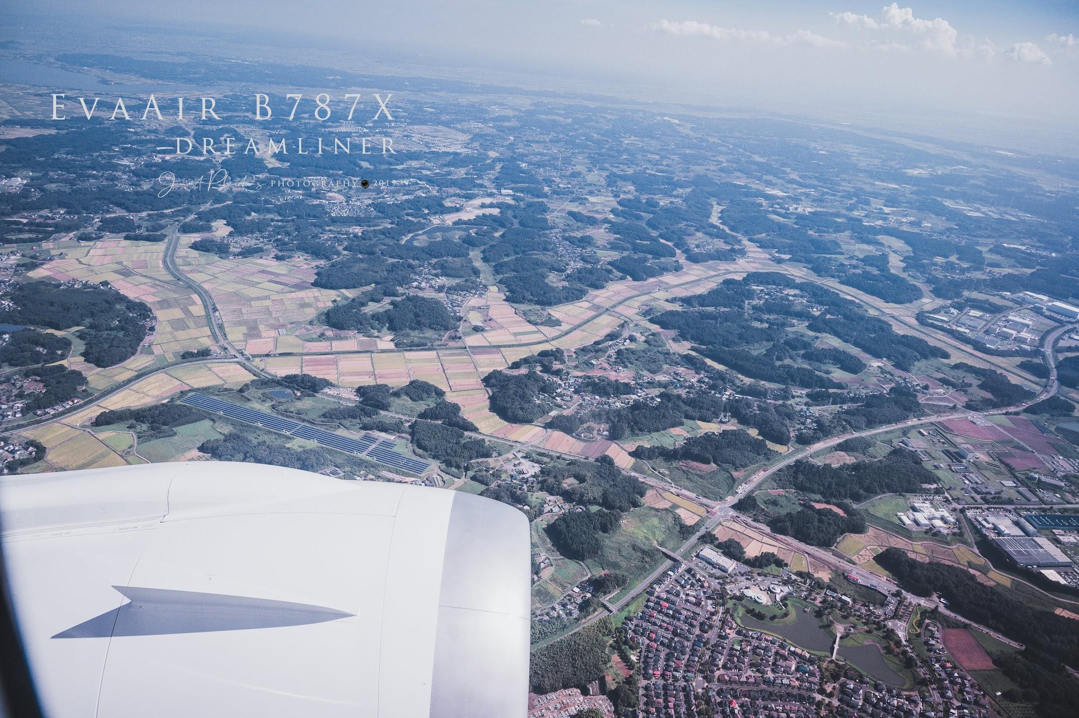 即將降落東京成田機場前,就可以看到一整片成田機場附近的農地。