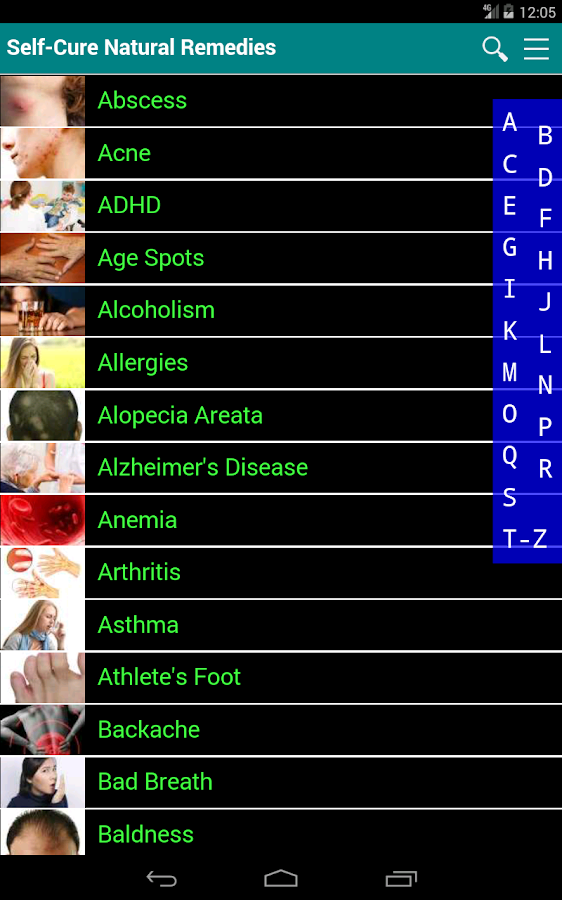 Self Cure home remedies for disease and illness- screenshot