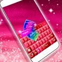 Pink Keyboard Hearts Glow icon