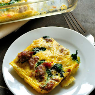 Sausage and Pepper Crustless Quiche