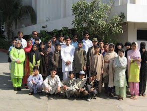 Photo: A Group Photo of the Participants from Sindh Education Foundation Child Development Centre at Rangoonwala Community Centre, International Wetland Day Feb 02, 2008