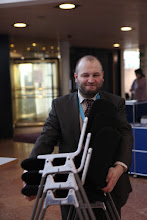 Photo: Oleg Belenko on his way to the staff room...
