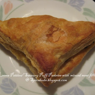 Keema Patties/ Puff Pastry with Minced Meat filling.
