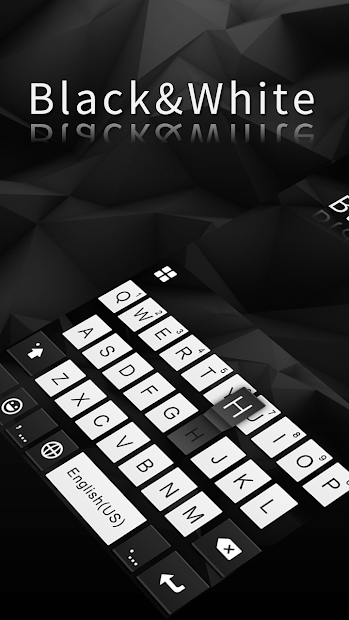 Classic Black Keyboard Android App Screenshot
