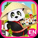 panda cooking pizza kids games icon