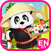 panda cooking pizza kids games