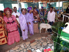 Photo: I have no idea what part the goat played in the baby dedication.