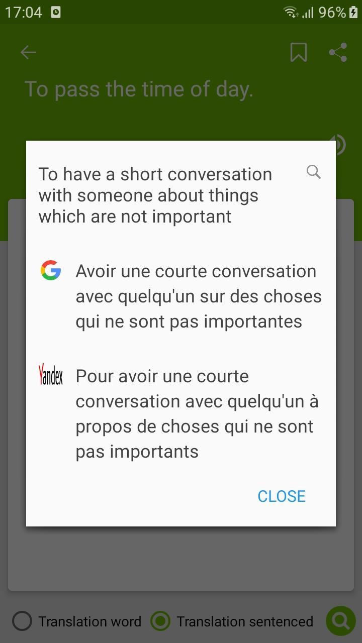 Скриншот English Idioms - Idioms Dictionary - Awabe