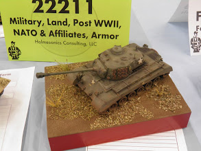 Photo: 48th scale Pershing took a 1st.