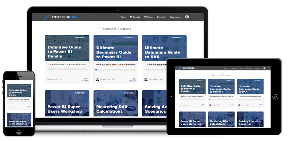 Enterprise DNA Power BI Online Training Portal