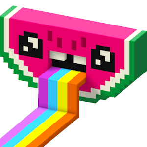 Color by Number 3D, Voxly - Unicorn Pixel Art