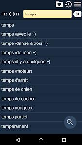 French Italian Dictionary Free screenshot 0