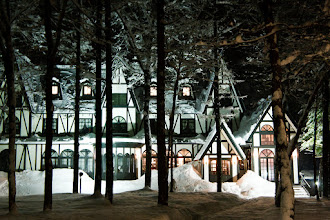 Photo: With Halloween right around the corner and it being #FrighteningFriday and all, I figured this was a suitable photo. The building looks rather spooky, but was in fact Hotel Traumerei in the Echoland district of Hakuba, Japan. Some friends and I stayed there for a couple of weeks while snowboarding; it was great to come home after a day on the slopes to relax with a beer in the hotel's onsen!