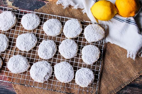 Lemon Cream Cheese Delights Dusted With Powdered Sugar.