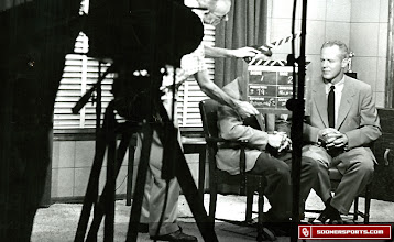 Photo: Wilkinson was the first college coach to have his own television show.  Here is a taping of one of those shows.