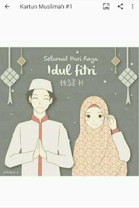 480 Gambar Kartun Muslimah Modern HD Terbaik