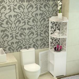Dulap  pentru baie, 22 x 22 x 120 cm, Alb