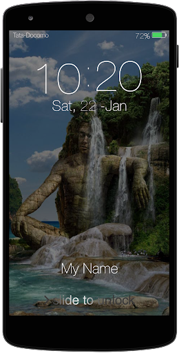 Water Falls Keypad LockScreen