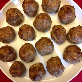 Keto Baked Meatballs.