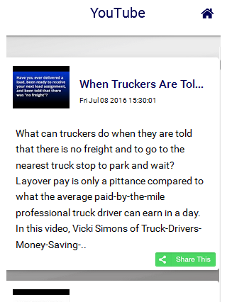 Truckers Savings App- screenshot
