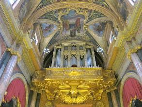 Photo: 215 La Valette, église St Paul, orgue, plafond nef