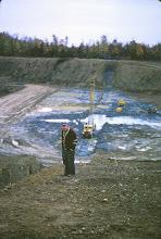 Photo: Ed Murphy checks out the progress on the development of Lake Roaming Rock