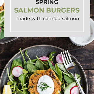 Spring Salmon Burgers Made with Canned Salmon.