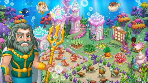 Aquarium Farm: fish town, Mermaid love story shark  screenshots 5