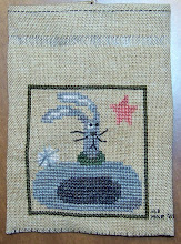 Photo: Completed 7 Mar 2008. Springology March Hare (2004) from the Trilogy. This project was completed with scraps I found in the house. Stitch count: 40w x 40h.